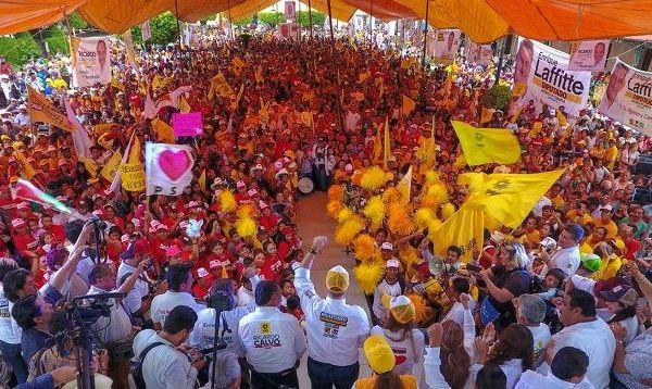 """""""Estoy seguro que en Morelos habrá un voto inteligente porque la gente quiere unidad en el estado y mejores condiciones para su familia, por eso hoy nos enfrentamos a un reto muy importante, el salir a votar por una mejor sociedad de derechos, el reto de luchar por la seguridad y paz de sus familias"""""""
