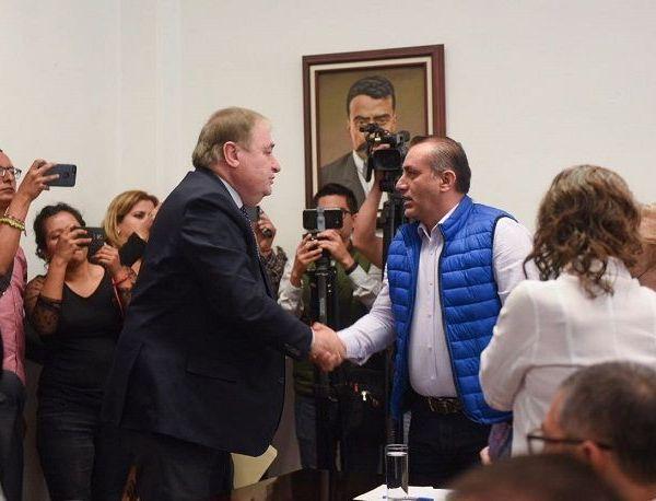 El delegado nacional en funciones de presidente del Partido Encuentro Social (PES) en Morelos, José Manuel Sanz Rivera, quien es uno de los integrantes de dicho comité, expresó que hay la apertura para que se lleve a cabo dicho Proceso de Entrega-Recepción, y tras una revisión de lo que se reciba se darán a conocer los resultados correspondientes