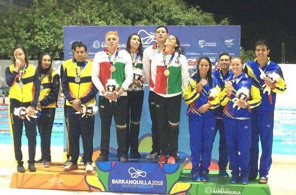 Con un impresionante cierre a cargo de la velocista guanajuatense Liliana Ibáñez, el relevo tricolor en esta nueva modalidad mixta, se impuso a Colombia, medalla de plata con 3:50.40 así como a Venezuela, tercero con 3:53.58