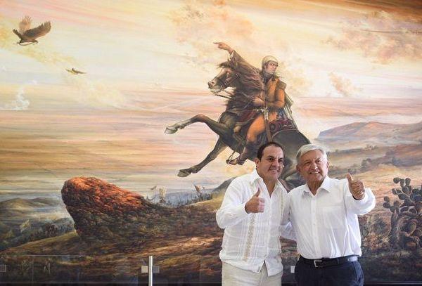 Aseguró que cuando asuma su responsabilidad como presidente apoyará al gobierno estatal y de los 33 municipios de Morelos, así como a los ciudadanos, ya que ha sido una entidad que ha participado en las transformaciones históricas, como la lucha de Independencia, la Reforma y la Revolución Mexicana