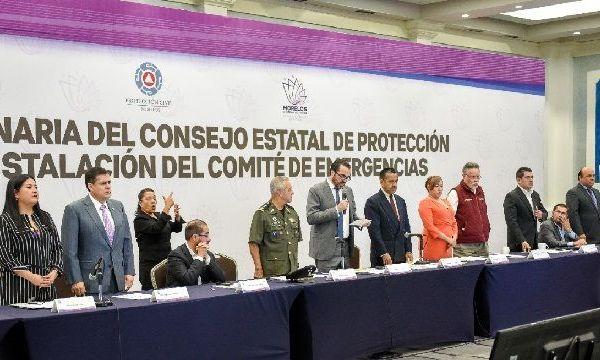 Pablo Ojeda Cárdenas, secretario de Gobierno, tomó protesta a funcionarios y servidores públicos que conforman el citado órgano colegiado, esto en el marco de la primera sesión ordinaria 2020 del Consejo Estatal de Protección Civil Morelos