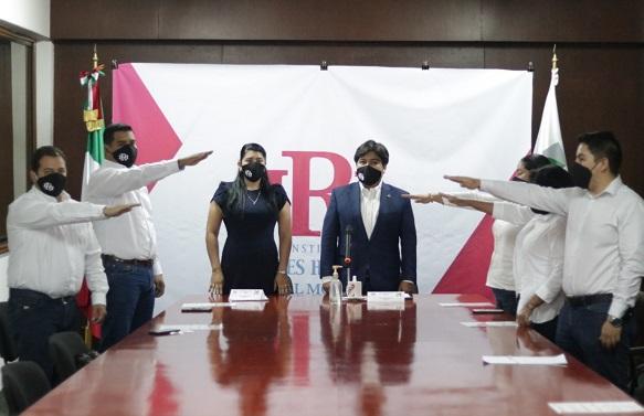 Al fungir como testigo de honor, el presidente del PRI en Morelos, Jonathan Márquez, dijo a las nuevas generaciones de priistas que todos los integrantes de la representación del tricolor son emanados de la escuela de cuadros del partido