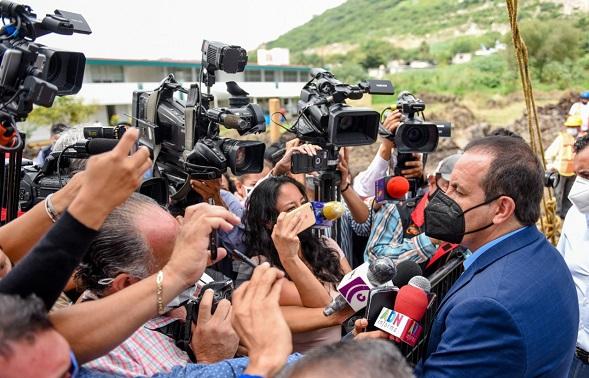 el jefe del Ejecutivo local señaló que el siguiente mes, el presidente visitará de nuevo el estado, para dar seguimiento a la modernización del tramo La Pera-Cuautla, en la autopista