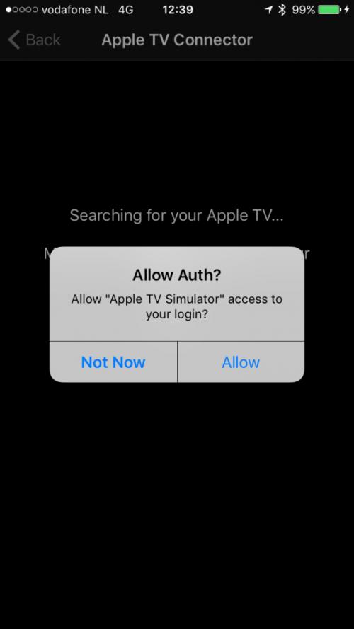 Spotify Apple TV Authentication Client