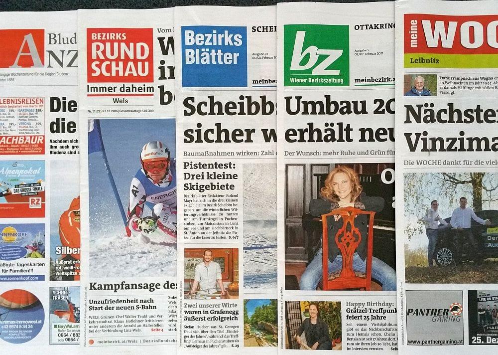 Österreichische Bezirkszeitungen