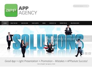 Screenshot der App Agency, die App-Marketing für App-Publisher sowie zahlreiche weitere Dienstleistungen für Apps anbietet