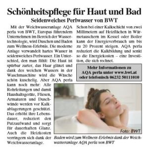 Materndienst für AQA Perla von BWT in Österreich
