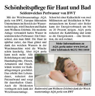 Materndienst in Österreich: AQA Perla von BWT