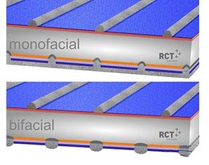 Bifacial solar cell