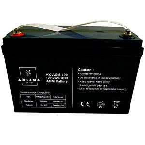 Щелочной AGM аккумулятор Axioma 12В от 7Ач до 200Ач емкость
