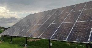 Солнечные панели на металлоконструкции