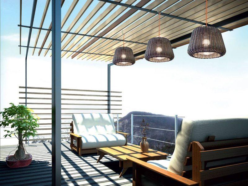 iluminacion exterior casas iluminar mesa de jardin y