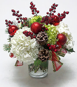 3d Wallpaper Low Bright Holiday Hydrangeas Amp Berries Centerpiece