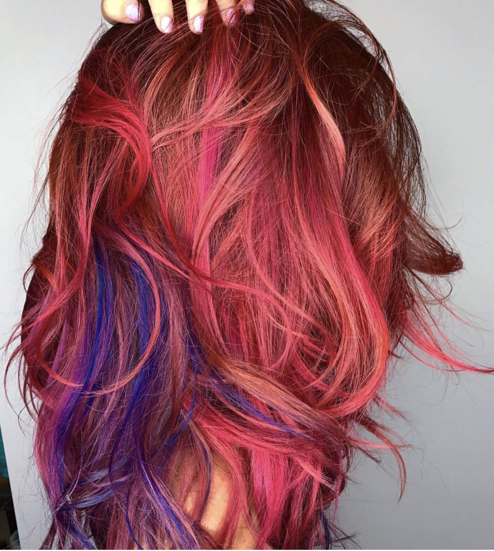 Funky Mermaid And Unicorn Hair Color