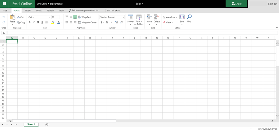 How to Access the Free Online Version of Microsoft Excel