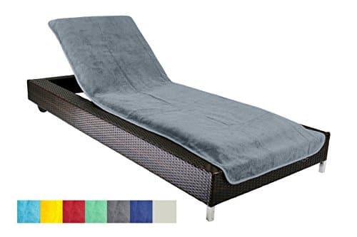 Brandsseller Housse De Protection Pour Chaise Longue Jardin Plage En Eponge 100 Coton Env 75 X 200 Cm