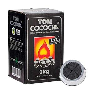 Briquettes charbon naturel Tom Cococha 1kg pour chicha narguilé spécial système de chauffe Kaloud