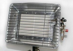 Chauffage radiant au gaz 4,2kW avec allumeur piézo et sécurité d'allumage