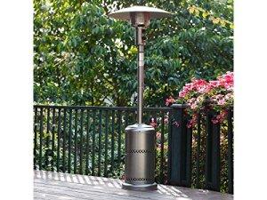 Habitat et Jardin – Parasol chauffant Relax 1 – 11.7 kW – Argenté