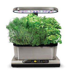 Miracle-Gro AeroGarden Harvest Elite avec kit de capsules de graines d'herbes gourmets, Acier Inoxydable