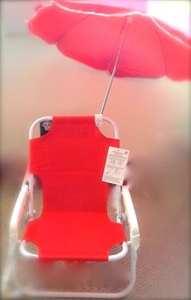 Chaise longue et parasol rouge pour enfants – Chaise de plage