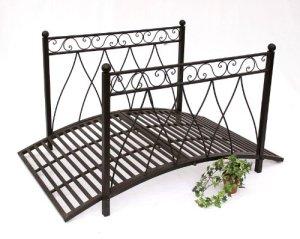 DanDiBo Pont en métal 111252 Pont en fer 145cm Pont de jardin Pont métallique Déco de jardin