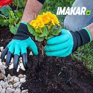 IMAKAR® Gants jardin griffes pour creuser, homme & femme. Le meilleur cadeau jardiniers, pour creuser facilement les plantations et faire pousser les plantes de pépinière.