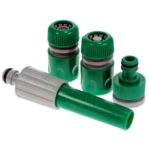 Lot de 4raccords tuyau d'arrosage de jardin Tuyau Tête Embout Spray Pistolet connecteur adaptateurs