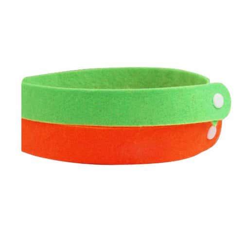 SODIAL(R) 2x Mosquito repulsif Bracelet DEET GRATUIT/Non toxique et tres efficace