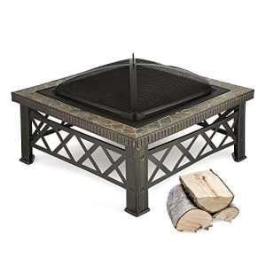 Blumfeldt Merano Braséro jardin chauffage extérieur (grill pour utilisation du Braséro, 75x75cm, look méditerranéen, grille et tisonnier inclus)