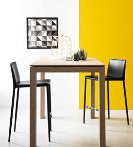 connubia by Calligaris – Table extensible SIGMA COUNTER – Finition : placage Finition Natural P27 – Conf. 29 pièces.