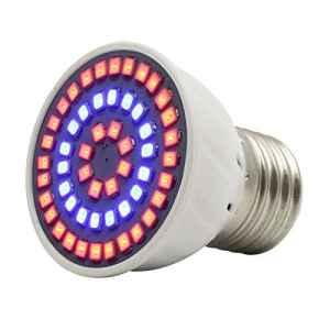 Lediary 3W Ampoule de Croissance E27avec 54pcs LEDs 36Rouge et 18Bleu pour serre d'intérieur de floraison de plantes d'éclairage jardinage hydroponie Système 1 Pack