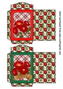 Feuille A4 pour confection de carte de vœux – 2 Wild red rose seed packets 2 par Sharon Poore