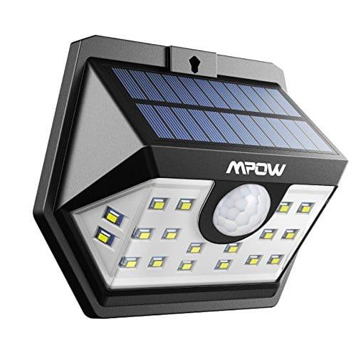 version avanc e mpow lampe solaire 20 led etanche. Black Bedroom Furniture Sets. Home Design Ideas