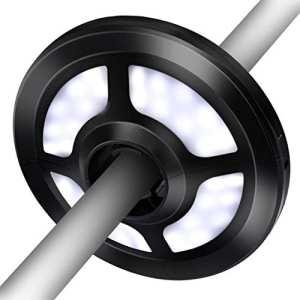 VicTsing Lampe pour Parasol de Jardin Lampe 36 LED sans fil avec 2 Modes d'Eclairage Batterie et Alimentation Câble USB pour Lumière Parapluie, Tente de Camping, Lumière de Patio, Eclairage Temporaire d'Urgence-Noir