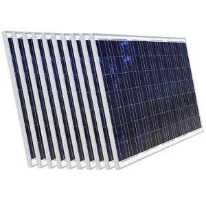2000W 36V Panneau solaire–Lot de 12180W Panneaux solaires pour batterie 24V Home Système d'alimentation de secours