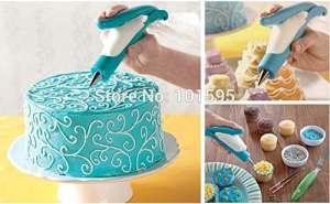 Lescorecor (TM) New fantaisie gâteau Crème Stylo Décoration fleur encadrée DIY outils de cuisson des pâtisseries et propre réutilisable Moule à bille