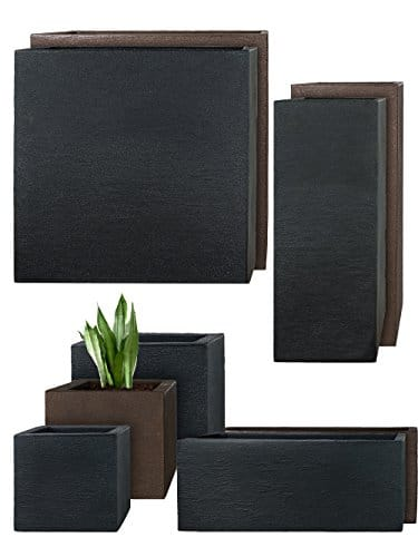 pflanzwerk pots de fleurs tub jardini re anthracite. Black Bedroom Furniture Sets. Home Design Ideas