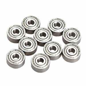 SODIAL 10 Pieces Roulements A Billes Radiales Miniatures 623ZZ 3x10x4mm pour RC Pratique automobile