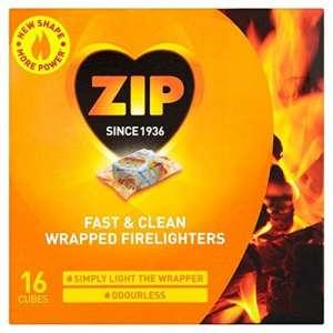 ZIP inodores Allume-feu Fast & Clean Emballé 16 par paquet