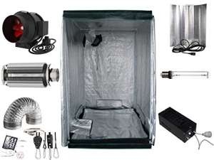 Générique Growbox Kit Complet 600 W – 1200 W NDL Filtre (AKF) 120x120x200 Eco
