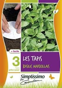 Gondian 513906 CP 3 Semences Basilic Marseillais Sur Tapis Vert 1 x 8,1 x 16 cm