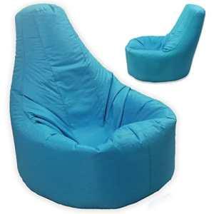 Grand pouf inclinable joueur de jeux d'intérieur et d'extérieur adulte-Bleu-Taille XXL (Bleu Aqua Pouf fauteuil Imperméable et résiste aux intempéries)