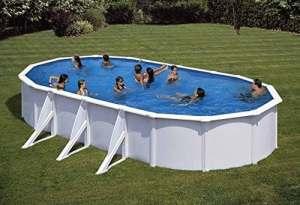 NEW plast piscine Caribe 750Dim 730x 375x 120avec filtre sable et accessoires–Newplast
