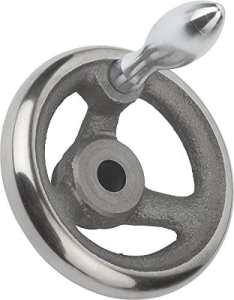 Volant sans écrou à bascule Gris fonte, Komp: acier, D2= 40, D1= 500, 1pièce, k0671.2500x 40