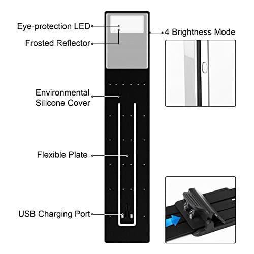 Ayotu Lumière Flexible Lampe Lecture Led De On Liseuse Bras Clip 2EDI9H
