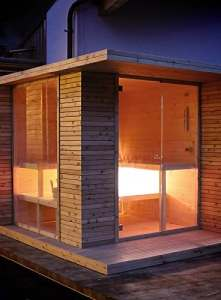 grandform sauna de jardin avec chauffage électrique ou à bois Outside Pro (cm. 280x 200x 208H.)