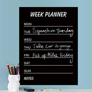 ShopSquare64 Tableau en PVC pour écrire, Semaine, Planning à Domicile, décoration