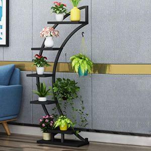 Stand de fleurs Stand de fleur en fer forgé intérieur multi-couche balcon rack salon créatif étage plante stand vert fleur stand (Couleur : J)