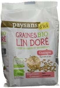 Ethiquable Graines de Lin Doré Bio 250 g Paysans d'Ici – Lot de 4